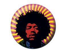Unkind - Merchandise Oficial - ProdutosJIMI HENDRIX psychedelic BUTTON BADGE