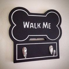 Walk Me dog leash holder by RCHwoodproducts on Etsy
