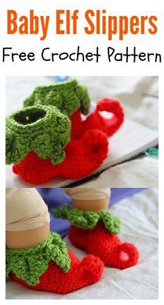 Baby Elf Slippers Free Crochet Pattern