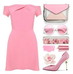 """""""MILLENIAL PINK off 476"""" by juuliap ❤ liked on Polyvore featuring Rebecca Minkoff, Ted Baker, ZeroUV, STELLA McCARTNEY, Pink and monochromepink"""