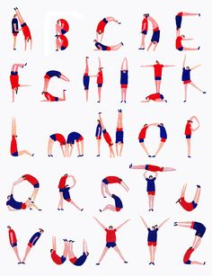 Alphabet inspired by the 2012 London Olympics - by Charlotte Trounce http://www.charlottetrounce.co.uk #illustration #typography #sports #fonts