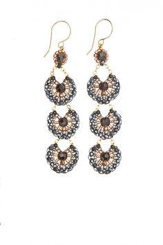 Fan Drop Earrings - great for #newyearseve