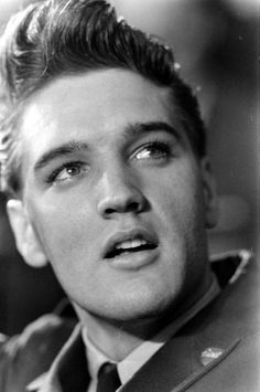 Elvis Presley at Fort Dix, New Jersey, shortly before his discharge from the U.S. Army, March 1960.