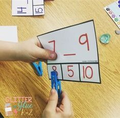 Great activities for centers that integrate fine motor work from Glitter and Glue 4 Includes great ideas and links to FREEBIES! Number Sense Activities, Math Games For Kids, Kindergarten Games, Preschool Math, Math Activities, Kindergarten Freebies, Educational Activities, 1st Grade Math, Grade 1