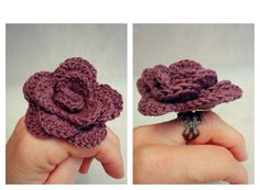Crochet Jewelry Ring. Uncinetto Anello gioielli