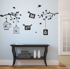 Wall sticker - Family tree for photos (familietræ,stamboom,stammbaum,familietre,släktträd) Diy Wall Art, Wall Decor, Tree Wall Painting, Wall Stickers Family, Faux Brick Walls, Wall Drawing, Paint Designs, Decoration, Wall Design