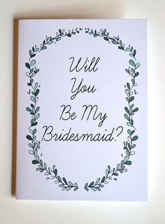 Wedding Will You Be My Bridesmaid and Maid Of Honor Cards by Floating Specks, $15.00
