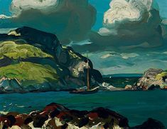 George Bellows Giant Sky Dimensions: 15 X 19.5 in (38.1 X 49.53 cm) Medium: oil on board Creation Date: 1913