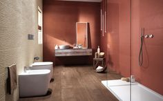 FAP Ceramiche offers bathroom tiles that team the finest ceramic tradition with the most contemporary interior design Contemporary Interior Design, Bathroom Interior Design, Interior Balcony, Upstairs Bathrooms, Master Bathroom, Dream Bath, Ceramic Wall Tiles, Color Tile, Decorating Your Home