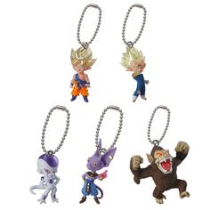Dragon Ball Super Saiyan Acrylic Cosplay Keychain Anime Dragonball Evolution Dbz Pendant Keyring Torankusu Frieza Llavero Costumes & Accessories