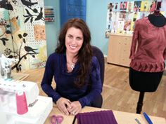 Angela Wolf adds button holes to her jacket on ISE @Angela Gray Gray Wolf @Vicky Lee Moreno Sews @Vogue Fabrics