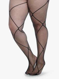 Crisscross Fishnet Tights