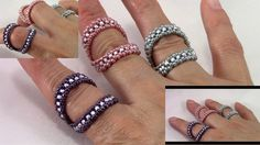 Duo Bling Stackable Ring