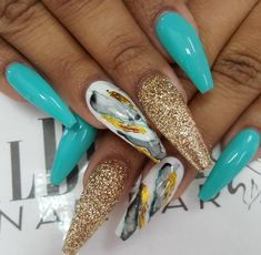 Beautiful long nail styles for fashionable girls in 2019 page 66 Fabulous Nails, Perfect Nails, Gorgeous Nails, Bling Nails, Swag Nails, Uñas Diy, Diva Nails, Nail Candy, Get Nails