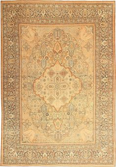 Antique Persian Kerman, Country of Origin: Persia, Circa Date: Late 19th Century 9 ft 8 in x 13 ft 10 in (2.95 m x 4.22 m)