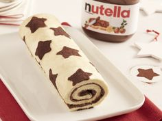 beurre, sucre glace, farine, blanc d'oeuf, cacao, oeuf, sucre, farine, Nutella® Christmas Log, Kakao, Butter Dish, Jelly, Cocoa, Icing, Biscuits, Food And Drink, Cookies