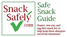 2013 Safe Snack Guide - An 8-page list of commonly available snacks that are free of peanuts, tree nuts and eggs for your school, sports league,  scout troop, party or play date.