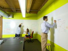 Dry Erase Board Walls #office #workplace