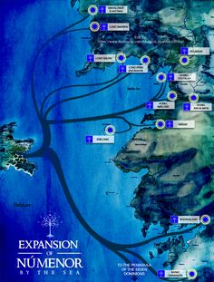 Expansion of Numenor by the sea by enanoakd.deviantart.com on @deviantART