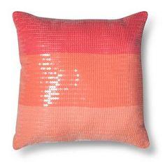 Ombre Sequin Decorative Pillow - Pink (Square) - Xhilaration™