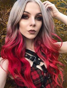 Lunar Tides Silver Lining + Cranbaby - Fuchsia Pink hair - Hair Color Spring Hairstyles, Pretty Hairstyles, Braided Hairstyles, Mixed Hairstyles, Gothic Hairstyles, Celebrity Hairstyles, Hair Dye Colors, Ombre Hair Color, Edgy Hair Colors