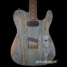 Preowned Scala Guitars T-Rod in Worn Denim | Rebel Guitars