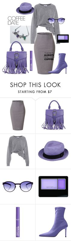 """Gray and Purple"" by marybulanova on Polyvore featuring мода, LE3NO, Versus, Balenciaga, P.A.R.O.S.H., Mykita, Maybelline, NYX, MANGO и CoffeeDate"