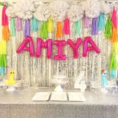 Rainbow My Little Pony unicorn birthday party! See more party ideas at CatchMyParty.com!