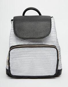 Pilka kuprinė | ASOS | Mesh Backpack - Multi - ASOS.com | ShopSpy.lt