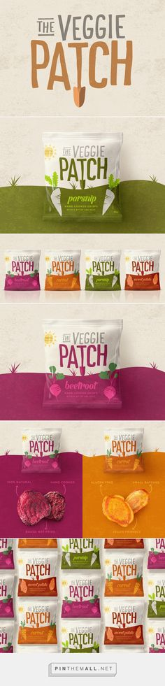The Veggie Patch crips packaging design by Our Revolution (Australia) - http://www.packagingoftheworld.com/2016/07/the-veggie-patch.html