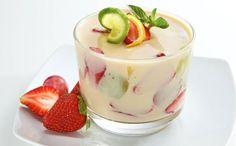 Gelatina de Coco con Frutas - Receta y Preparación