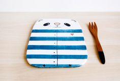Ceramic bunny serving board, Ceramic serving tray, Cheese board, Cutting board, Chopping board, Ceramics & pottery, Kitchen serving tray