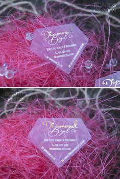 Transparent Business Cards, Clear Business Cards, Plastic Business Cards, Beauty Business Cards, Salon Business Cards, Brochure Design, Design Layouts, Design Design, Custom Design