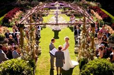 Ceremony and reception location: Hatley Castle-Victoria BC/Vancouver Island - I love the shot of the ceremony from this perspective! Wedding Coordinator, Wedding Planner, Wedding Locations, Wedding Venues, Hatley Castle, Victoria Wedding, Lesbian Wedding, Island Weddings, Vancouver Island