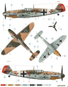 caza aleman Messerschmitt Bf JG 77 camuflaje y marcas Ww2 Aircraft, Fighter Aircraft, Military Aircraft, Fighter Jets, Luftwaffe, Camouflage Colors, Focke Wulf, Aircraft Painting, Ww2 Planes