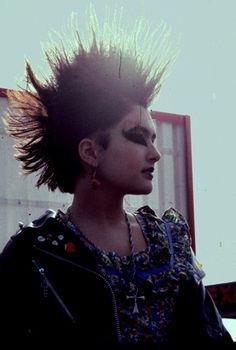 '80s hc punk mohawk = (photo by: bill hallman, atlanta) Photo taken by Bill Hallman, in Norcross, GA. (1985?)
