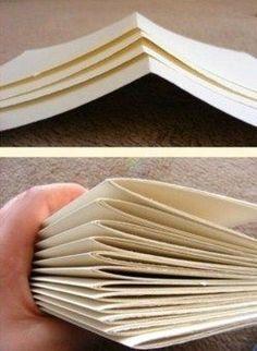 Bookbinding Tutorial: The Romantic Art Journal - Cloth Paper Scissors Faire Un Album Photo, Cloth Paper Scissors, Bookbinding Tutorial, Mini Albums Scrap, Diy Notebook, Art N Craft, Baby Scrapbook, Book Binding, Book Making