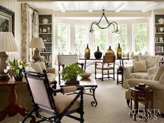 Equal parts inviting and luxurious, the living room by Jackye Lanham conveys livable luxury. Beautiful Living Rooms, Living Room Modern, Beautiful Interiors, Home And Living, Living Room Decor, Living Spaces, Dining Room, House Rooms, Great Rooms