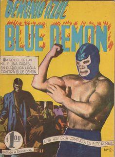 Comic Book Covers, Comic Books, Blue Demon, Mexican Wrestler, Retro Futurism, Erotica, Cover Art, The Past, Wrestling
