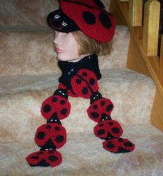 Free Crochet Ladybug Scarf Pattern.