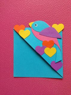 Love Bird Corner Bookmark from DIY fish