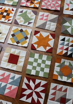 Temecula Quilt Co - Solid Sampler Two Sampler Quilts, Star Quilts, Mini Quilts, Quilt Block Patterns, Quilt Blocks, Hexagon Quilt, Quilting Projects, Quilting Designs, Dear Jane Quilt