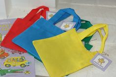 """small bags from Oriental Trading Company, tied a Goldbug """"grab bag"""" tag to them and the kids could grab candy to their hearts content."""