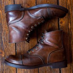Our very friendly customer @nizzel55x just shared some pictures of his Red Wing Collection. This is his pair of Iron Rangers 8111 which just got resoled and has been wearing since September 2012. The perfect pair of boots! | http://ift.tt/180OFjM | http://ift.tt/1VnF7fr
