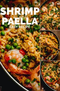 Incredibly delicious Chicken and Shrimp Paella Recipe, made of raw wild shrimp, short grain rice and chicken thighs. Fish Recipes, Seafood Recipes, Chicken Recipes, Dinner Recipes, Cooking Recipes, Healthy Recipes, Healthy Food, Recipe Chicken, Cooking Ideas
