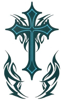 gothic cross tattoos for men 2 - pictures, photos, images