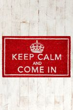 Keep Calm Door Mat at Urban Outfitters