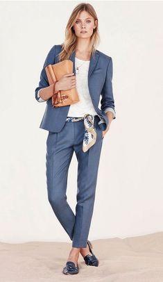 Business Outfit Frau, Business Outfits, Business Attire, Office Outfits, Mode Outfits, Business Fashion, Casual Business Look, Work Casual, Office Fashion