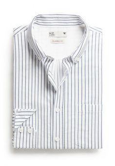 Рубашка H.E. by Mango мужская. Цвет: белый. Сезон: Весна-лето 2014. С бесплатной доставкой и примеркой на Lamoda. http://j.mp/1qQfMxB