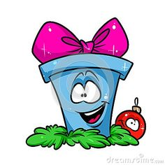 Christmas gift ball cartoon illustration isolated image character